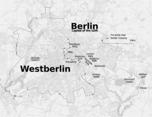 Map of East Berlin and West Berlin