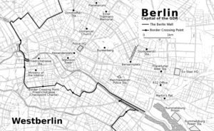 map of the centre of East Berlin