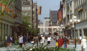 Leipzig Town Centre in the 80s (C) Fiona Rintoul